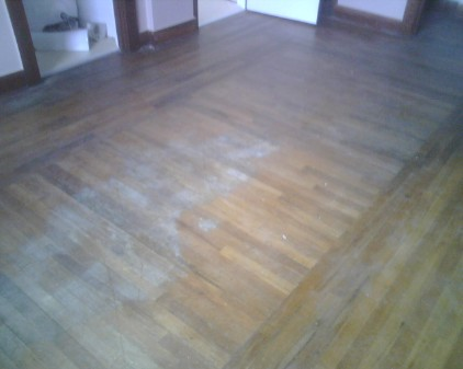 Hardwood flooring with border