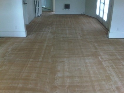 Wood grain filler in oak floor