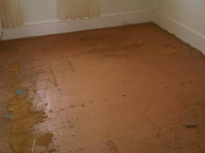 Painted fir flooring